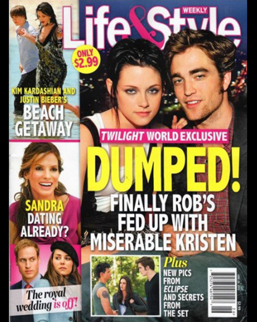Download this Robert Pattinson And Kristen Stewart Romance Tabloid Covers picture