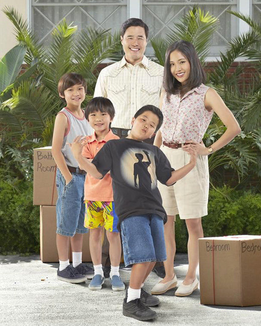"FRESH OFF THE BOAT - ""Fresh Off the Boat"" stars Forrest Wheeler as Emery, Ian Chen as Evan, Randall Park as Louis, Hudson Yang as Eddie and Constance Wu as Jessica. (ABC/Kevin Foley)"