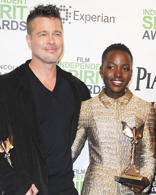 Lupita Nyong'o, Brad Pitt