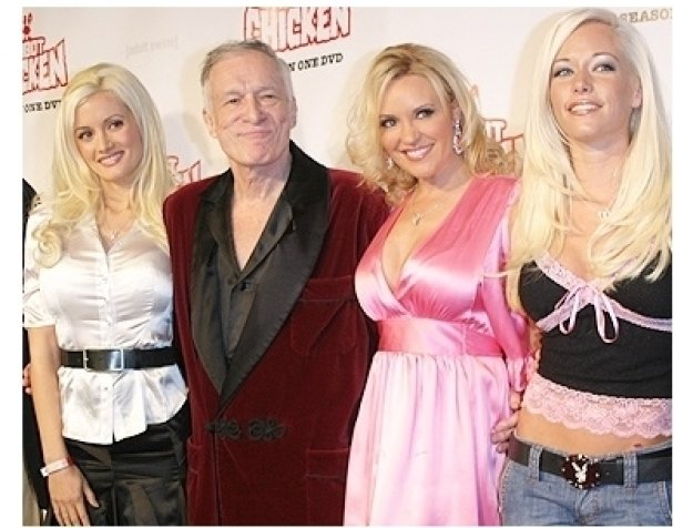 Robot Chicken DVD Launch Party:  Holly Madison, Hugh Hefner, Bridget Marquardt and Kendra Wilkinson