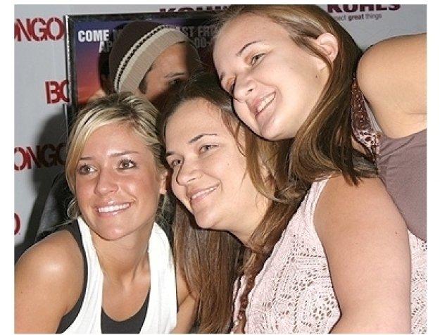 Laguna Beach Cast:  Kristin Cavallari poses with fans