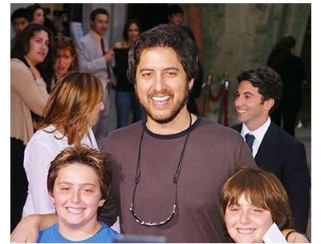"Ray Romano and his sons at the ""Anchorman"" Premiere"