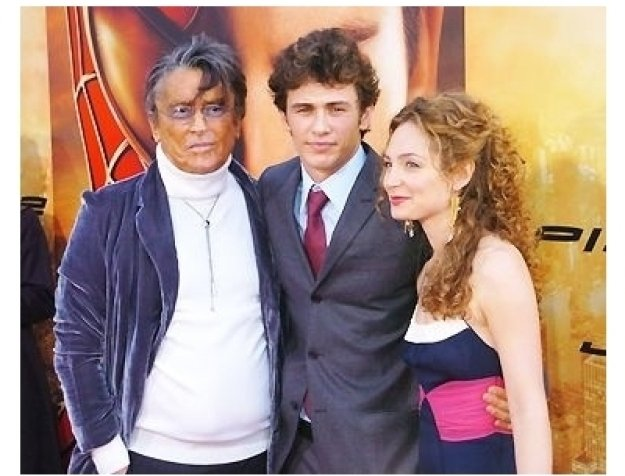 "Robert Evans, James Franco with date at the ""Spider-Man 2"" Premiere"