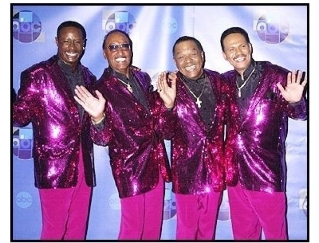 """The Four Tops backstage at the ABC Television Network Special,  """"Motown 45"""""""