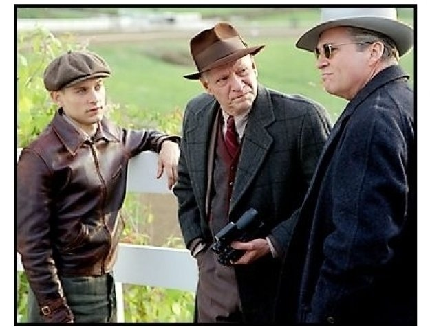 """Seabiscuit"" Movie Still: Tobey Maguire, Chris Cooper and Jeff Bridges"