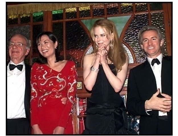 Rupert Murdoch, wife Wendi, Nicole Kidman and Baz Luhrmann at the Moulin Rouge After-Party