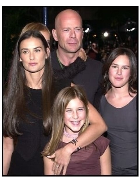 Demi Moore and Bruce Willis and kids at the Bandits premiere