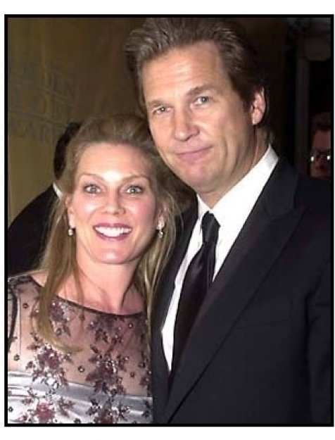 Jeff Bridges and wife at Universal / Dreamworks 2001 Golden Globes after party