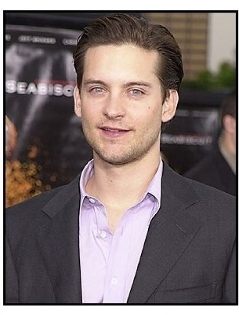 "Tobey Maguire at the ""Seabiscuit"" premiere"