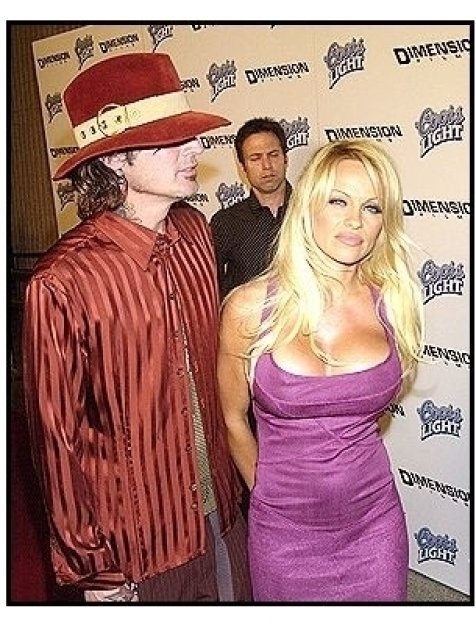"Tommy Lee and Pamela Anderson at the ""Scary Movie 3"" premiere"