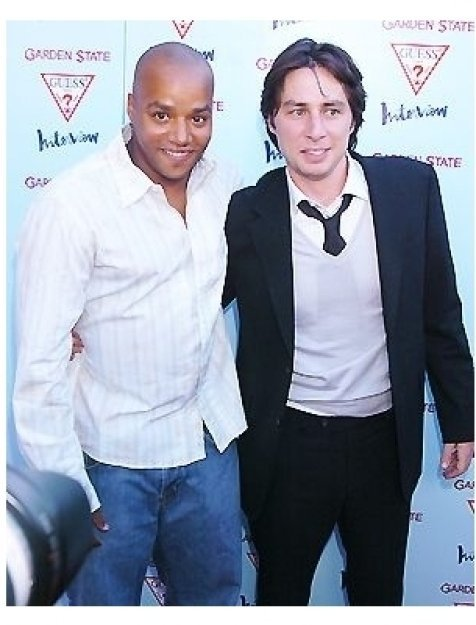"Donald Faison and Zach Braff at the ""Garden State"" Premiere"