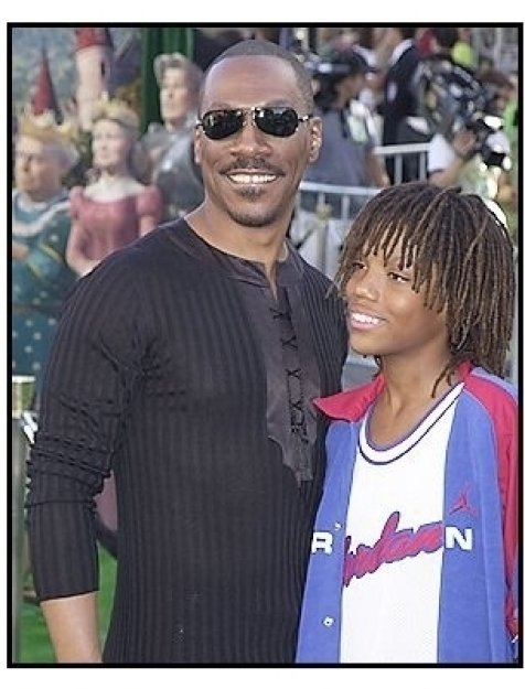 "Eddie Murphy and son at the ""Shrek 2"" Premiere"
