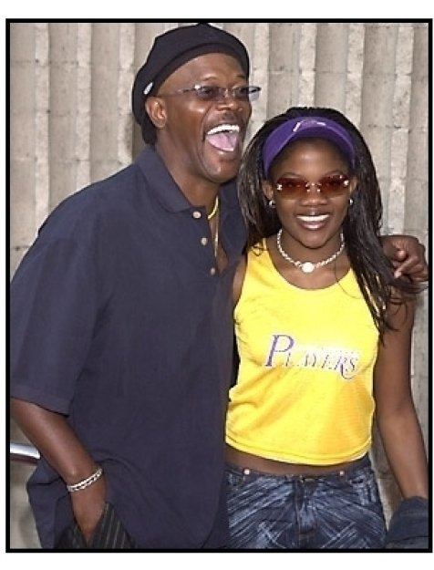 Samuel L Jackson and daughter at the Dr. Dolittle 2 premiere