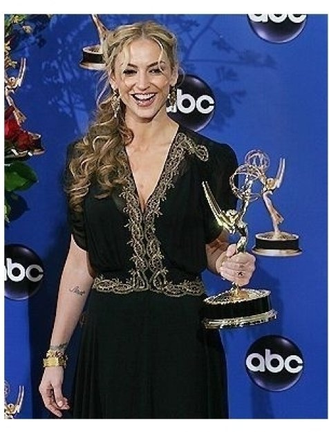 Drea De Matteo backstage at the 2004 Emmy Awards