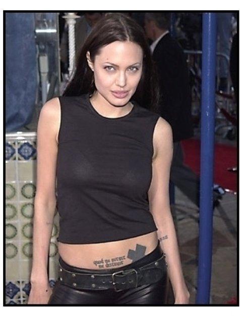 Angelina Jolie at the Tomb Raider premiere