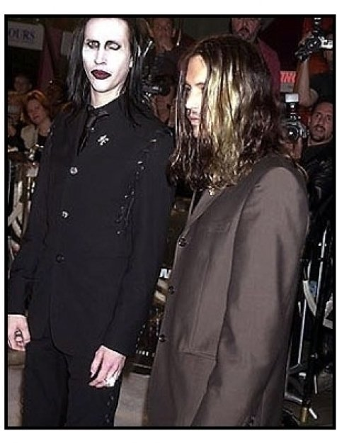 Marilyn Manson and Johnny Depp at the Blow premiere