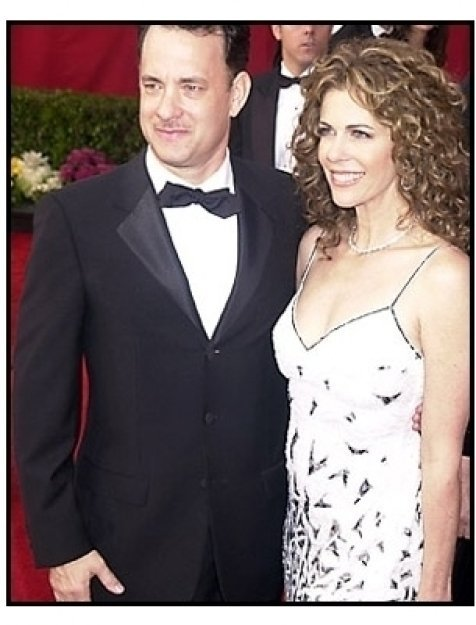 Tom Hanks and Rita Wilson at the 2001 Academy Awards