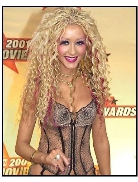 Christina Aguilera at the 2001 MTV Movie Awards