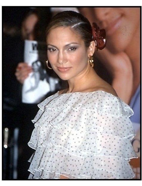 Jennifer Lopez at The Wedding Planner premiere