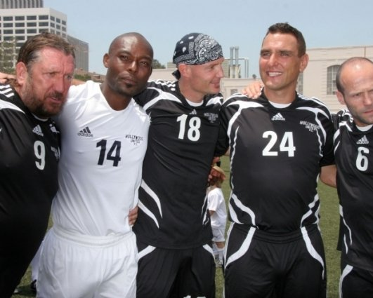 Steve Jones, Jimmy Jean-Louis, Frank Leboeuf, Vinnie Jones and Jason Statham
