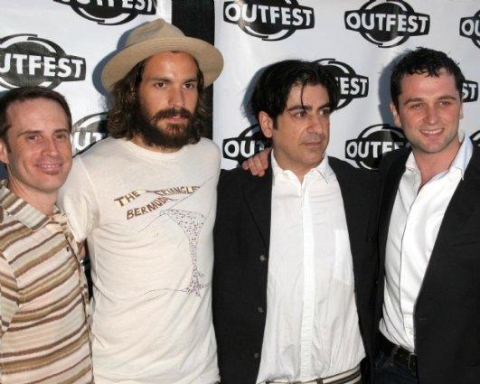 Stephen Gutwillig and Santiago Cabrera with Alek Keshishian and Matthew Rhys