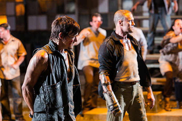 The Walking Dead Daryl Dixon Fights Merle