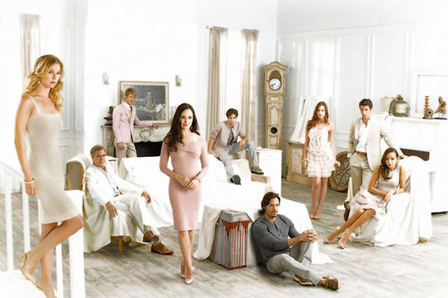 The cast of ABC's Revenge starring Madeleine Stowe and Emily VanCamp