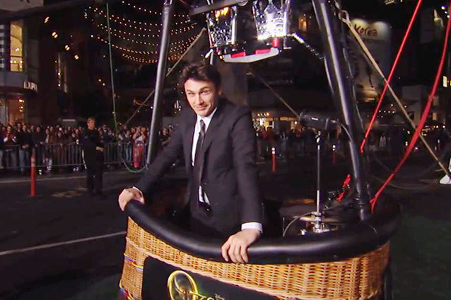 James Franco in a Hot Air Balloon