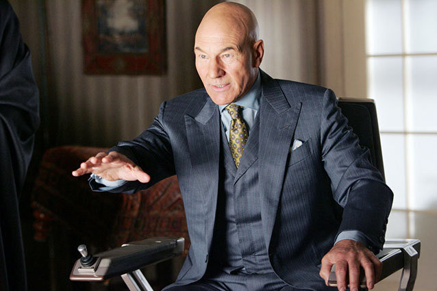 Patrick Stewart as Professor X in X-Men