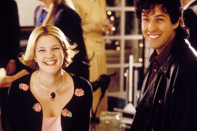 Adam Sandler and Drew Barrymore in 'The Wedding Singer'