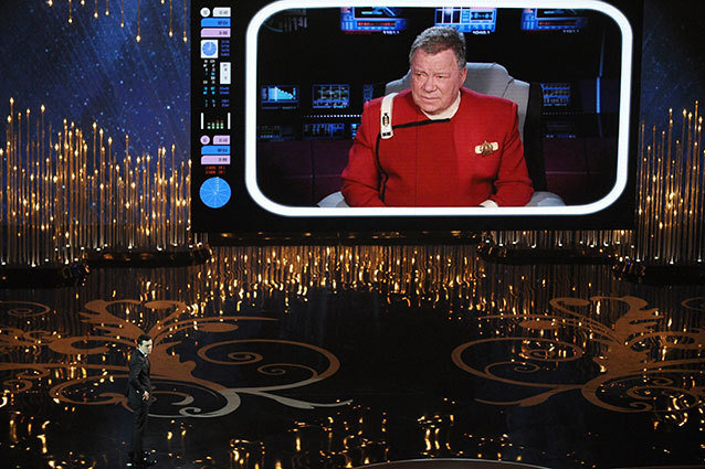 William Shatner as Captain Kirk at the Oscars