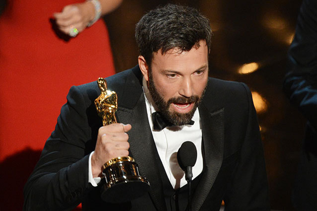 Ben Affleck accepts the Best Picture Oscar for Argo