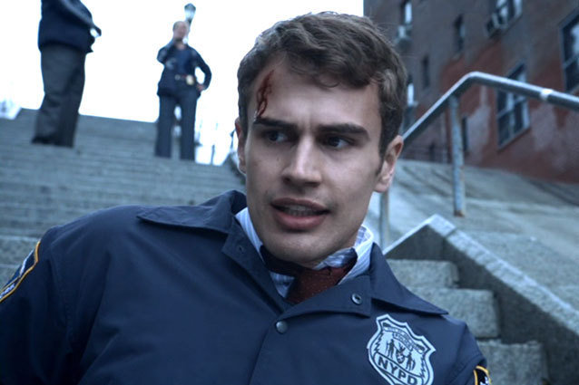 Theo James Action Scene Sexy Golden Boy