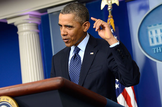 President Obama Briefs the White House Press Corps on the Sequester