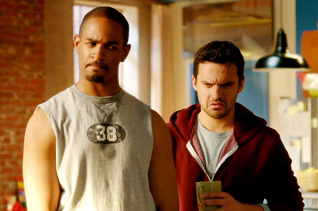 Damon Wayans Jr, Jake Johnson in the 'New Girl' pilot