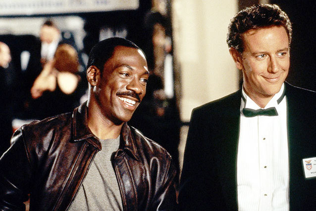Eddie Murphy and Judge Reinhold in Beverly Hills Cop