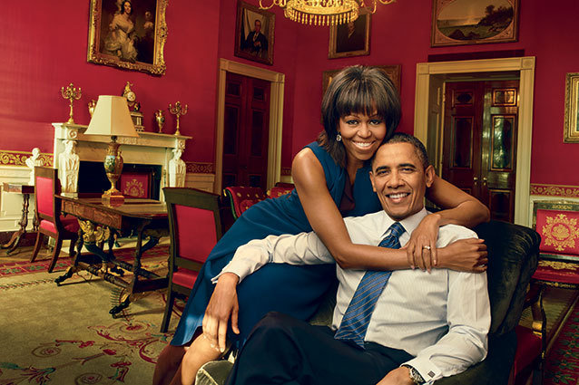 Michelle and Barack Obama in Vogue