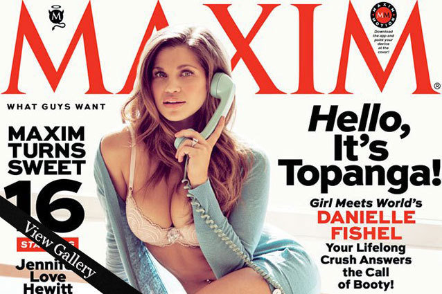 Danielle Fishel on the cover of Maxim Magazine