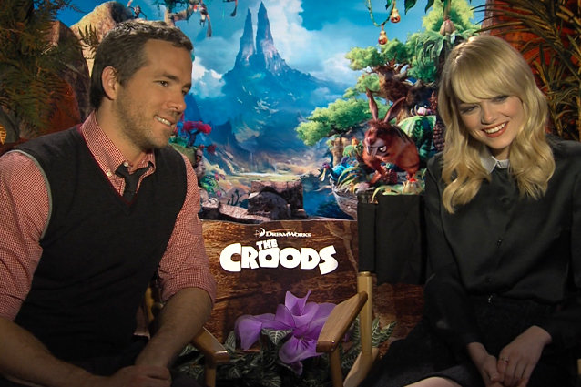 Ryan Reynolds Emma Stone Croods GIF