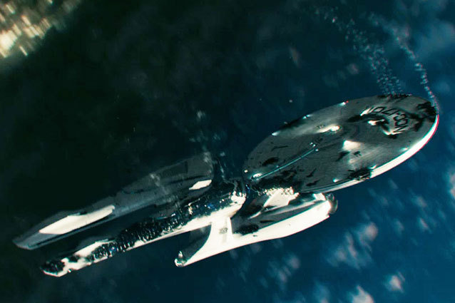 The Enterprise Takes a Beating in Star Trek Into Darkness