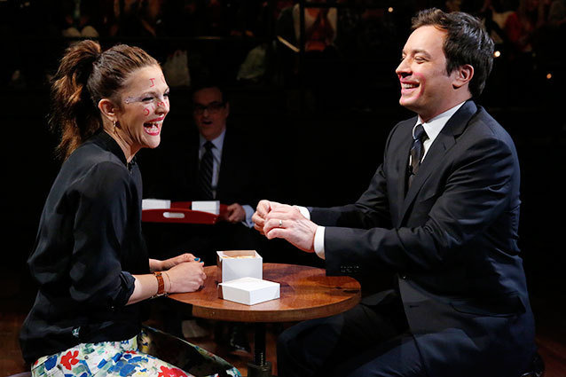 Jimmy Fallon and Drew Barrymore on Late Night