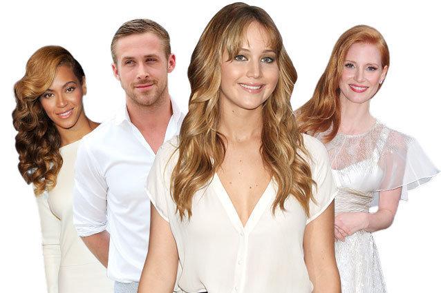 Jennifer Lawrence Hollywood Angel, Ryan Gosling, Beyonce, Jessica Chastain