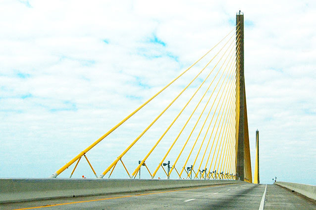 The Sunshine Skyway Bridge as Seen in Spring Breakers