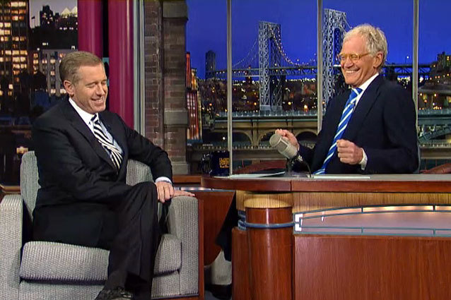 Brian Williams David Letterman Late Night