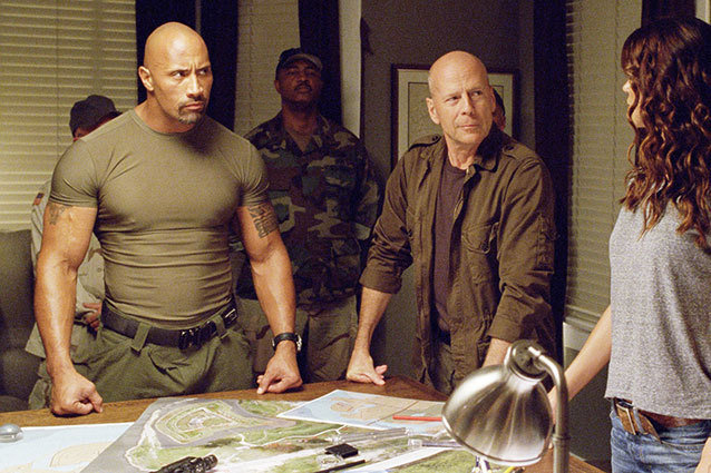 G.I. Joe Retaliation The Rock Bruce Willis