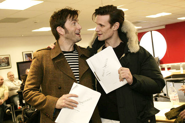 David Tennant and Matt Smith, Doctor Who table read