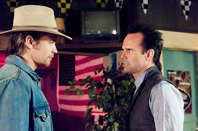Justified finale Timothy Olyphant and Walton Goggins