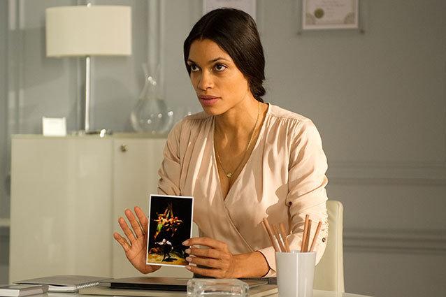 Rosario Dawson as Elizabeth Lamb in 'Trance'