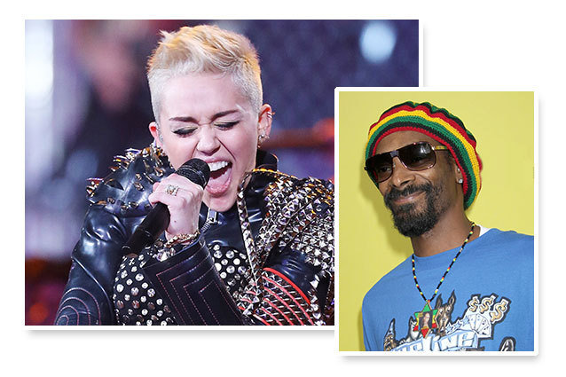 Miley Cyrus and Snoop Dogg Collaborate