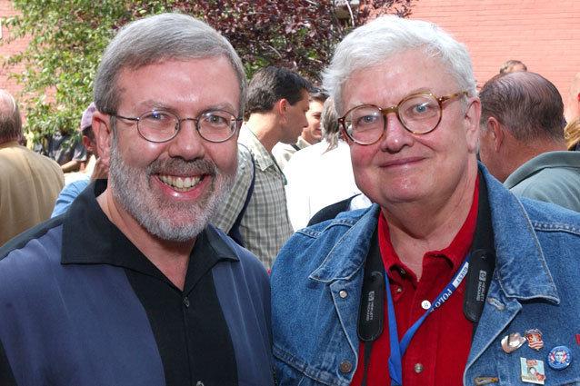 Leonard Maltin and Roger Ebert